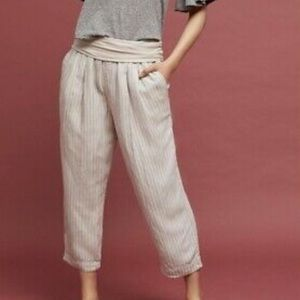 Anthropologie Hei Hei Striped Cropped Pants
